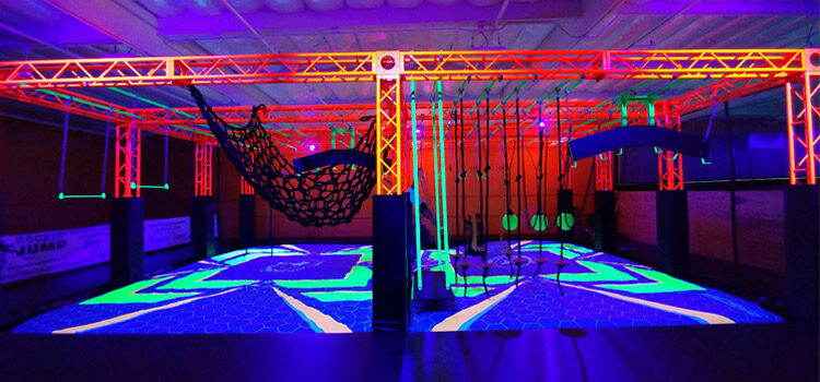 The First Glow in the Dark Trampoline Park in the World